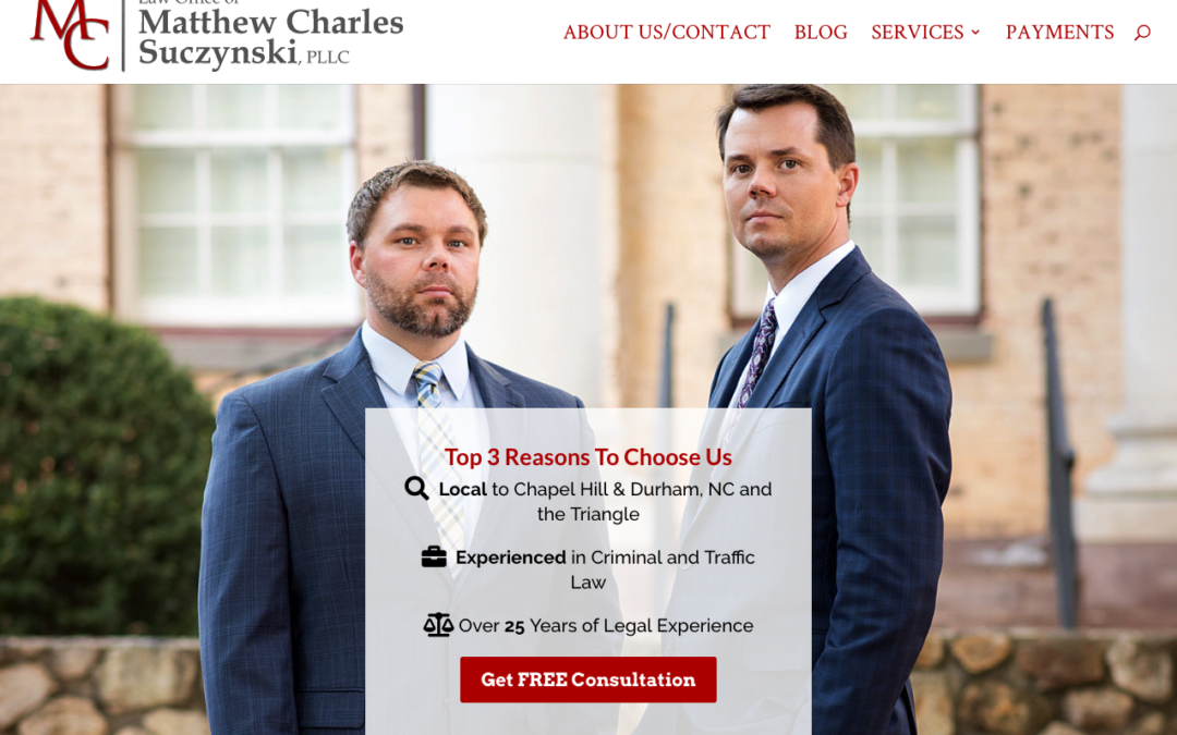 Matthew Charles Law, PLLC – Chapel Hill, NC – Web Design & Development Case Study