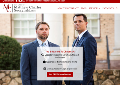 Matthew Charles Law, PLLC - Chapel Hill, NC - Web Design & Development Case Study 1