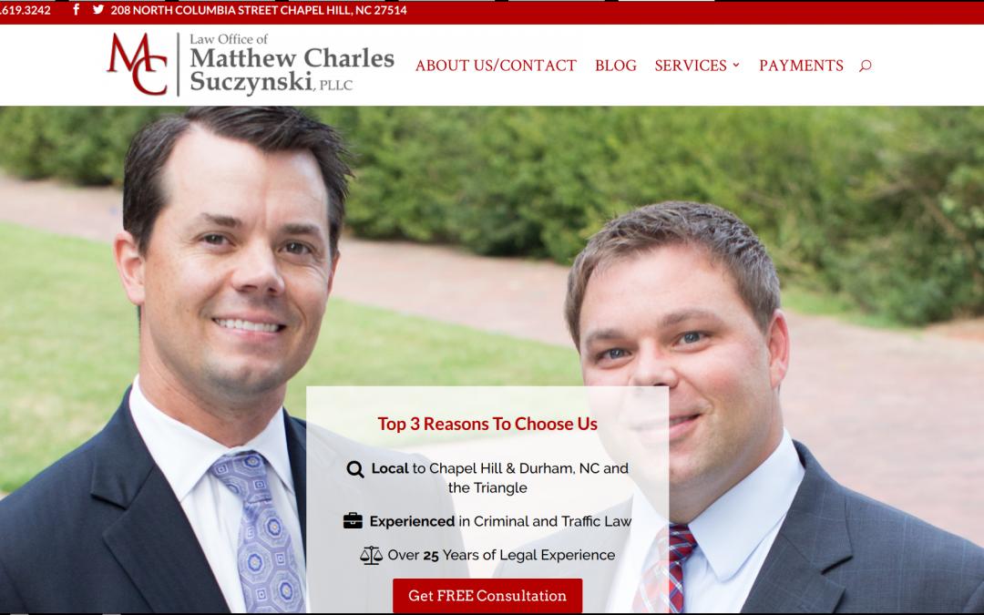 Case Study: Mathew Charles Law PLLC- Chapel Hill, NC