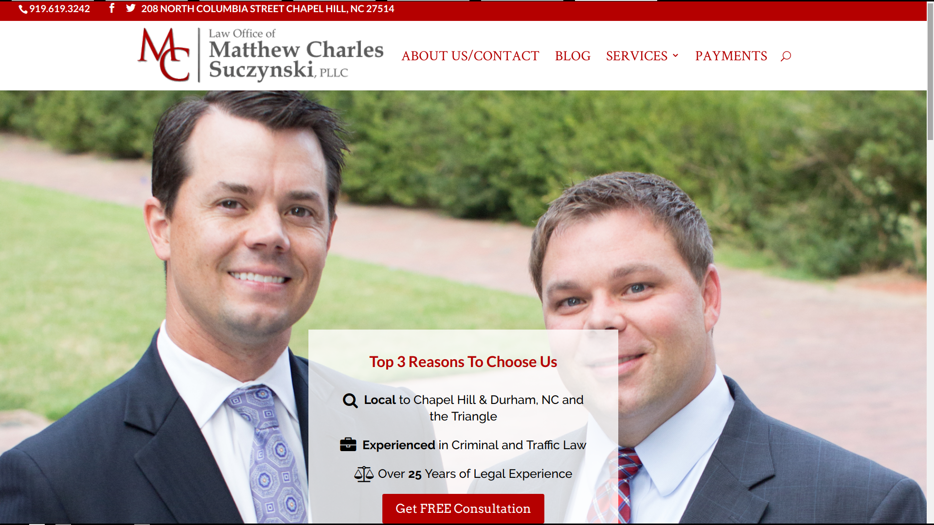 matthew-charles-law-homepage-web-design-seo-chapel-hill-nc