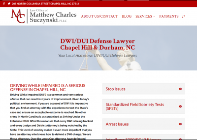 Matthew Charles Law, PLLC - Chapel Hill, NC - Web Design & Development Case Study 2