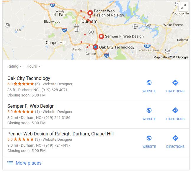 Google My Business And Local Seo A Match Made In Internet Heaven Raleigh Durham Web Design Seo Oak City Tech Marketing